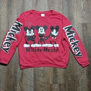 Mickey Mouse Crew Neck Sweatshirt Disney Comic